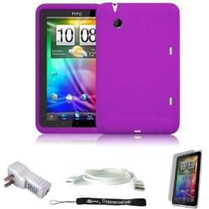Cover Protective Slim Durable Silicon Skin Case for HTC Flyer 3G WiFi