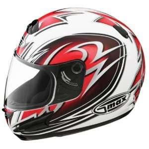GMAX GM38 Full Face Street Helmet White/Red/Black/Silver X