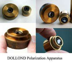 DOLLOND OF LONDON ANTIQUE BRASS EARLY PETROGRAPHIC POLARIZING