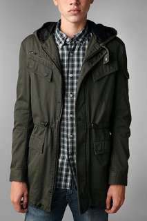 UrbanOutfitters  MG Black Label Quilted Military Trench Coat