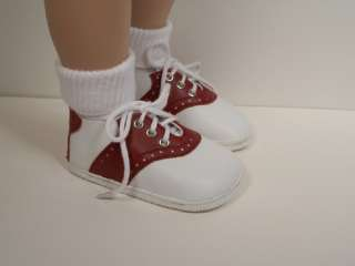 BURGUNDY Saddle Oxford Doll Shoes For My Twinn Pose.♥