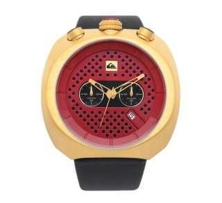Red Gold Leather Black Mens Boys Large Surf Watch Gift RRP$250
