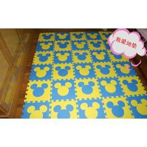 Disney Mickey Mouse Head Figure Foam Floor Puzzle Mat Nursery Soft Mat