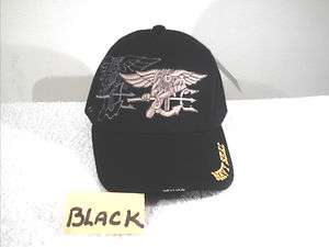 FREE SHIP**CAP  NAVY SEAL BLACK HAT******