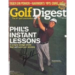 Phil Mickelson Autographed / Signed Golf Digest Magazine March 2001