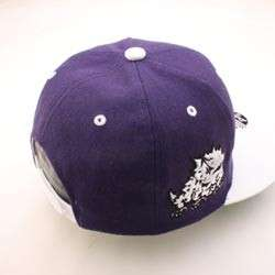 TCU HORNED FROG NCAA SNAPBACK HAT CAP SUPERSTAR PURPLE/WHITE