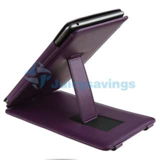 For Nook Color Premium Folio Leather Slim Case Cover Pouch With Stand