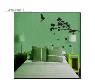 MAPLE TREE & BIRD ♠ Vinyl Art Decor Wall Decal Sticker