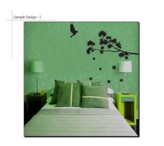 MAPLE TREE & BIRD ♠ Vinyl Art Decor Wall Decal Sticker