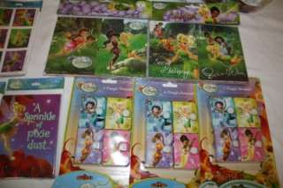 Hallmark Disney Tinkerbell Fairies Party Supplies Huge LOT Reusable