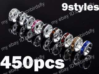 wholesale jewelry lots crystal rhinestone Rondelle spacer beads