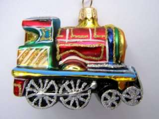 TRAIN BABY EUROPEAN BLOWN GLASS CHRISTMAS TREE ORNAMENT RAILROAD ZUG