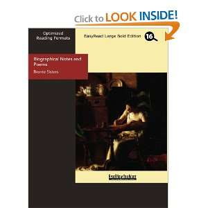 : Biographical Notes and Poems (9781427019417): Bronte Sisters: Books