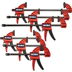 Bora 6 Pc. Pistol Grip Clamp Set Home Improvement