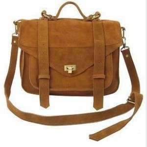 Gossip Girl Genuine Suede Leather Satchel Shoulder Bag