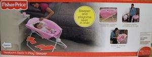 Fisher Price Newborn Rock n Play Sleeper Pink Baby Girl NEW