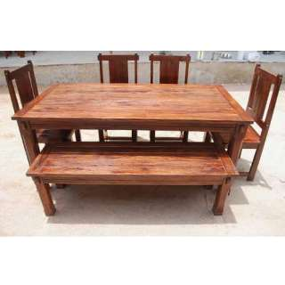 Dining Room Table & Chairs Set Furniture w Patio Bench NEW