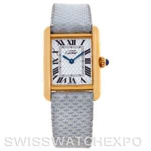 Cartier Tank Louis Silver Gold Plaque Ladies Quartz Watch 2415