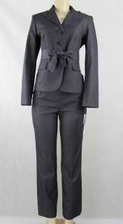 Suit Studio women suit pant set Island Escape jacket pant dark gray