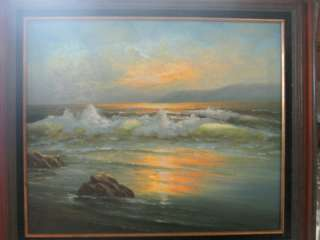Oil On Canvas Signed By Renown Artist. R.Christi 1970