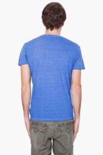 True Religion Royal Blue V neck T shirt for men