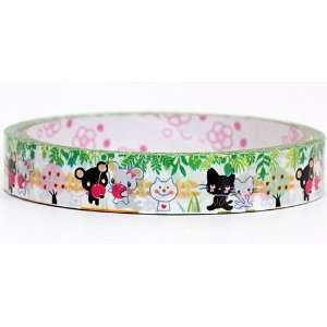 cute animal couples Sticky Tape bears cats: Toys & Games