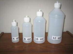 32 oz Flip Top Plastic Bottles, 1 dozen
