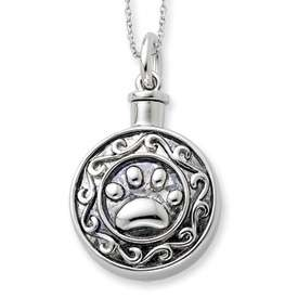 Sterling Silver Ash Holder Pendant for our precious animals, dog, cat