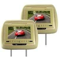 LCD Car Headrest DVD Player + FM Transmitter   Pair