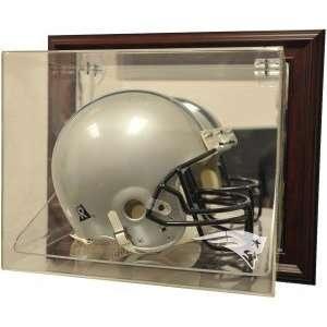 New England Patriots Helmet Case Up Display, Mahogany