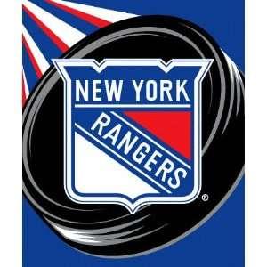 New York Rangers 50x60 Puck Super Plush Throw