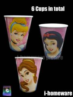 Princess Disney Birthday Party Supply 6x Paper Cup p014