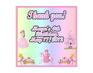 Princess Castle Girl Personalized Birthday Party Thank You Magnet