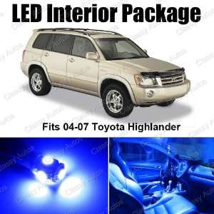 Toyota Highlander Blue Interior LED Package (6 Pieces