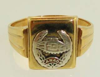 Canada. Army Tank Division Ring.