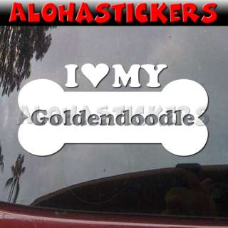 LOVE MY GOLDENDOODLE Dog Breed Decal Sticker DG457