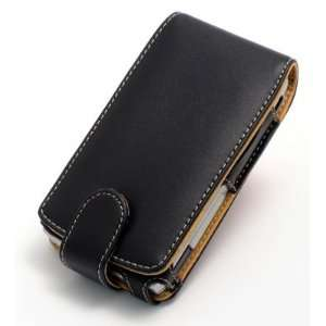 Verizon Wireless Sprint Motorola Q Black Leather Flip Case