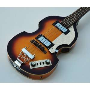 SUNBURST HOLLOW VIOLIN BODY ELECTRIC BEATLE BASS Musical Instruments