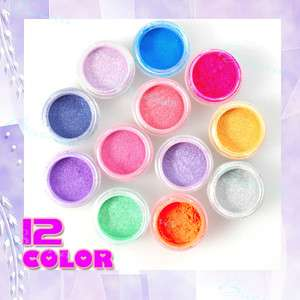 Pearl Powder Dust Kit Set for Professional Acrylic Nail Tip Decoration