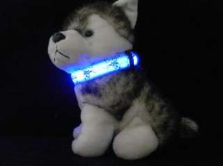LED Pet Dog cat Safety Collar Flashing Light Pluto cartoon style Size