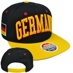 Original Zephyr Snapback Germany German Flag Flat Bill Black Licensed