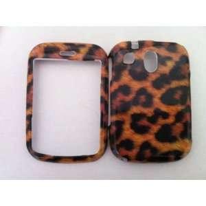 Pantech Jest TXT8040 Brown Leopard Hard Case Cover