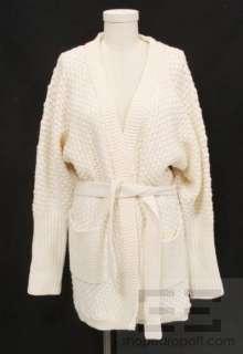 Rag & Bone Winter White Dolman Belted Cardigan Size 4 NEW