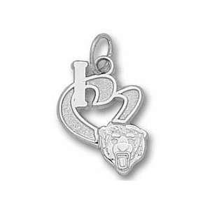 Chicago Bears 1/2 I Heart Bear Head Charm   Sterling