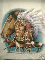 XL T shirt Indian Chief Horse Native American Nice Gift