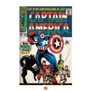 Captain America Charge! Comic Book Superhero Poster 16 x 20 inches