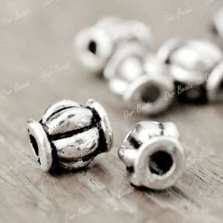 200pcs Tibet Style Tibetan Silver Tube Charm Spacers Bead Findings