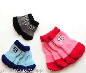 Dog Paw Traction Control Socks XSmall   Black/Gray