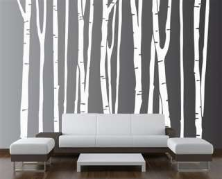 Birch Tree Large Wall Decal Forest Deco Vinyl Sticker Removable (9