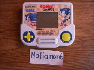 Tiger Electronic Sonic the Hedgehog Handheld LCD Sega 1991 HTF Works